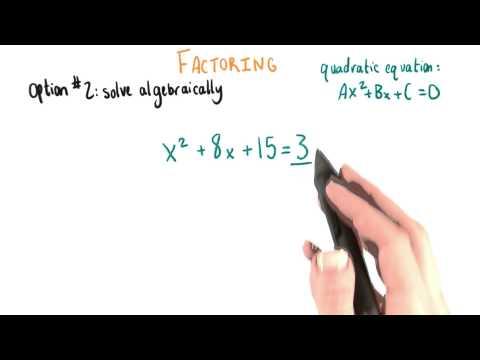 Solving Algebraically - College Algebra thumbnail