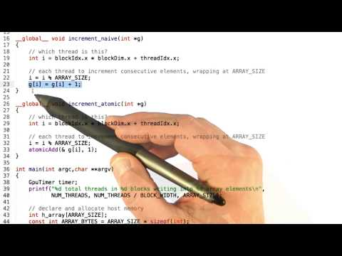 Atomic Memory Operations - Intro to Parallel Programming thumbnail