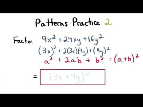 Factoring Patterns Practice 2 - Visualizing Algebra thumbnail