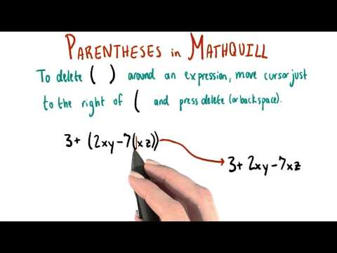 MathQuill - Deleting Parentheses - College Algebra thumbnail