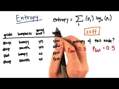Entropy Calculation Part 5 - Intro to Machine Learning thumbnail