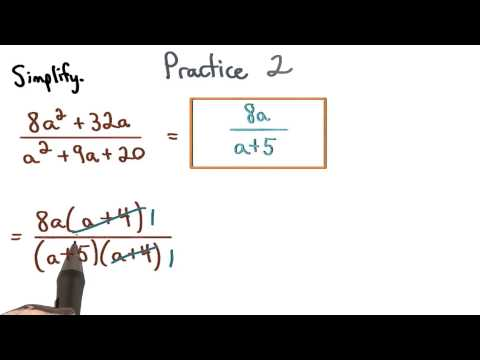 Simplify Rational Expressions Practice 2 - Visualizing Algebra thumbnail