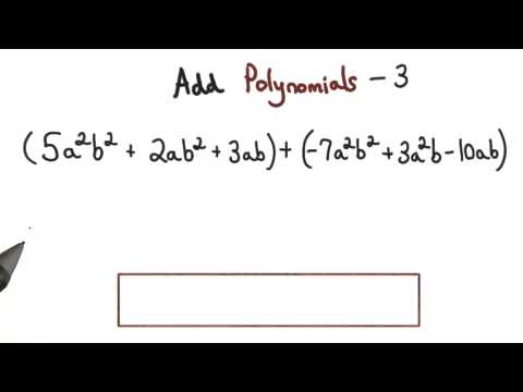 Add Polynomials Practice 3 - Visualizing Algebra thumbnail