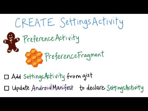 Create SettingsActivity - Developing Android Apps thumbnail