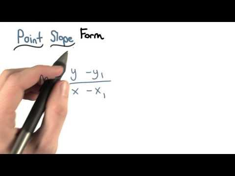 More Point Slope Form - Visualizing Algebra thumbnail