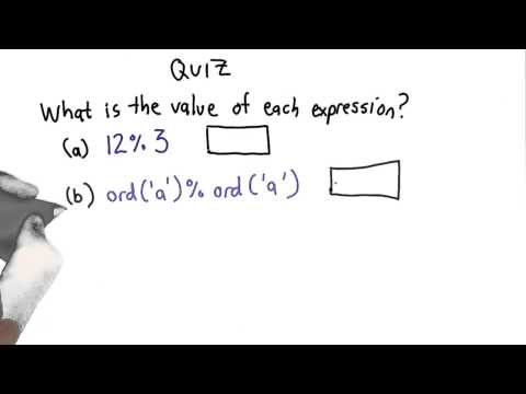 Modulus Quiz - Intro to Computer Science thumbnail