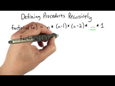 Recursive Procedures - Intro to Computer Science thumbnail