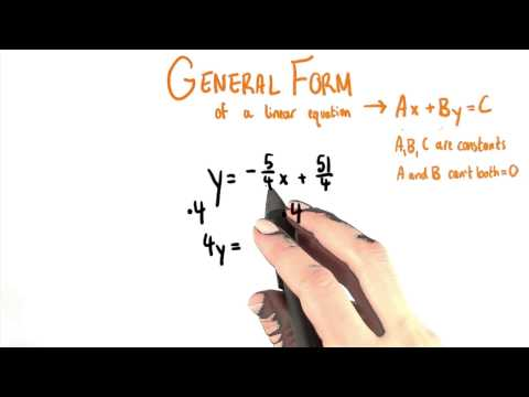 General Form - College Algebra thumbnail