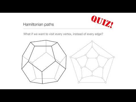 Computation in Complex Systems: Easy & Hard : Hamiltonian Paths Quiz thumbnail