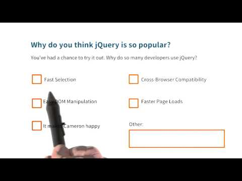 Why Use jQuery Quiz - Intro to jQuery thumbnail