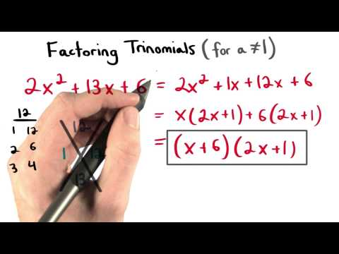 Factoring Quickly - Visualizing Algebra thumbnail