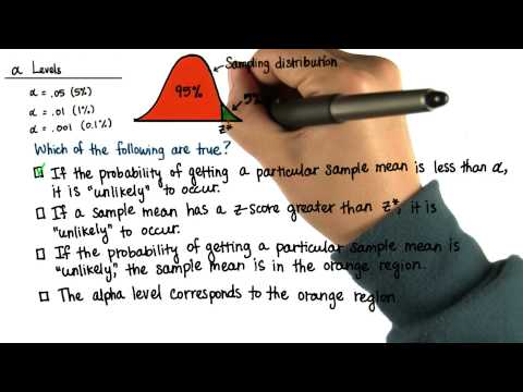 Alpha Levels - Intro to Inferential Statistics thumbnail