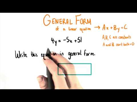 Write In General Form - College Algebra thumbnail