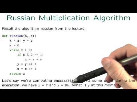 Russian Multiplication Algorithm - Intro to Algorithms thumbnail