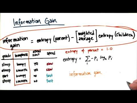 Information Gain Calculation Part 9 - Intro to Machine Learning thumbnail