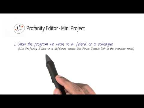 Profanity Editor Mini-Project - Programming Foundations with Python thumbnail