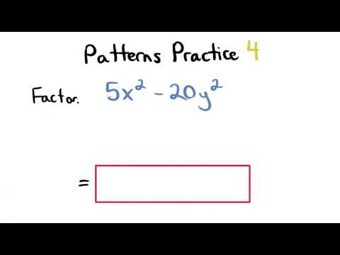 Factoring Patterns Practice 4 - Visualizing Algebra thumbnail