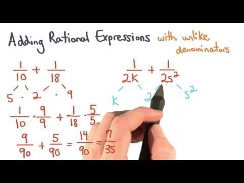 The LCD of Rational Expressions with Unlike Denominators - Visualizing Algebra thumbnail