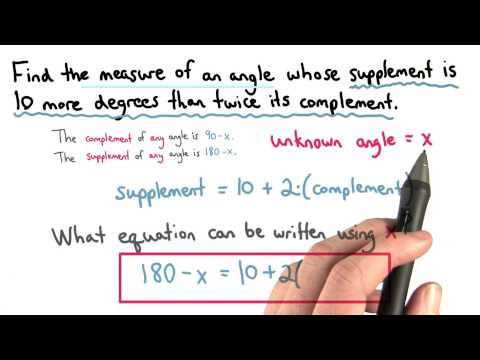 Complement and Supplement Equation - Visualizing Algebra thumbnail