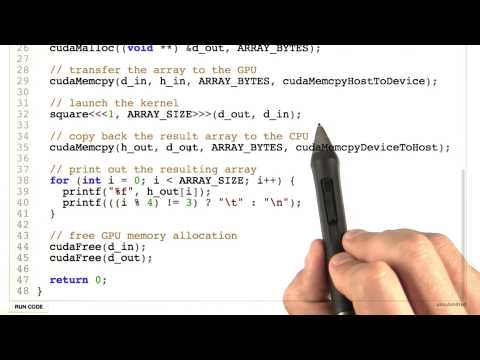 Squaring Numbers Using CUDA Part 3 - Intro to Parallel Programming thumbnail