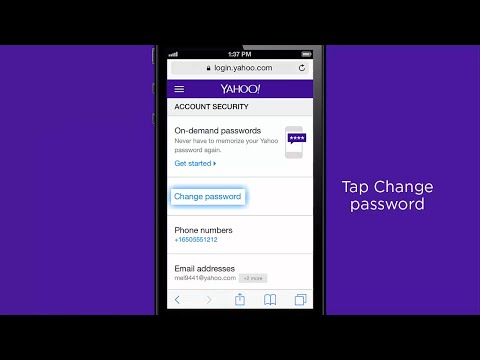 Change your Yahoo password on your iOS device thumbnail