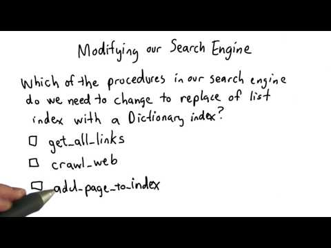 Modifying the Search Engine - Intro to Computer Science thumbnail