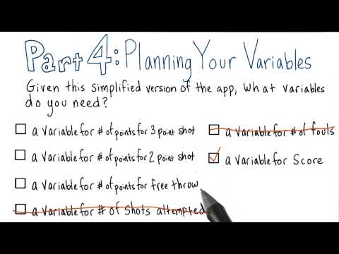 Planning Your Variables - Solution thumbnail