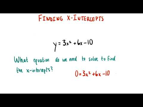 Equation for x intercepts - College Algebra thumbnail