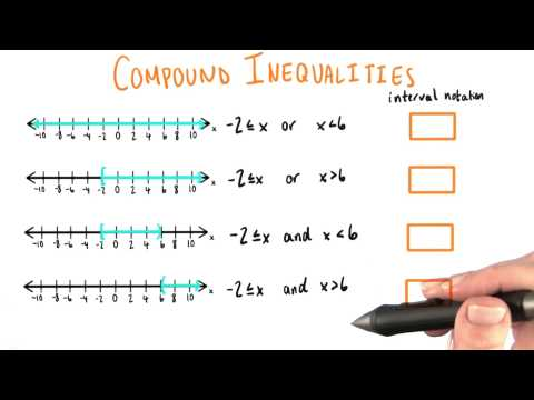 Compound Inequalities with Interval Notation - College Algebra thumbnail