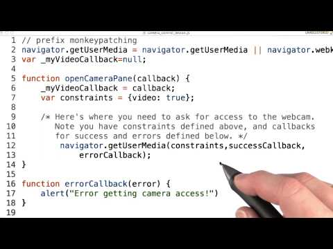 Webcam access - Mobile Web Development thumbnail