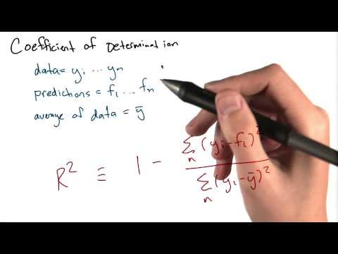 Coefficients of Determination - Intro to Data Science thumbnail