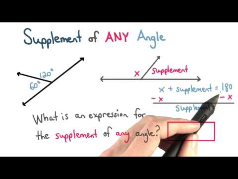 Supplement of Any Angle - Visualizing Algebra thumbnail