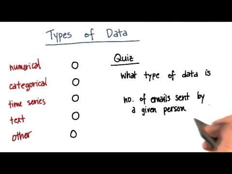 Types of Data Quiz 5 - Intro to Machine Learning thumbnail