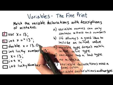 Variable Declarations - The Fine Print - Intro to Java Programming thumbnail