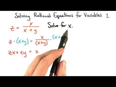 Solving Equations for Variables Isolating Terms thumbnail