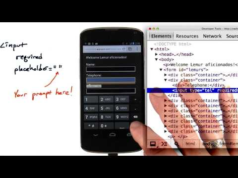 Input attributes - Mobile Web Development thumbnail