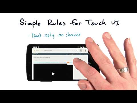 Simple rules for touch UI - Mobile Web Development thumbnail