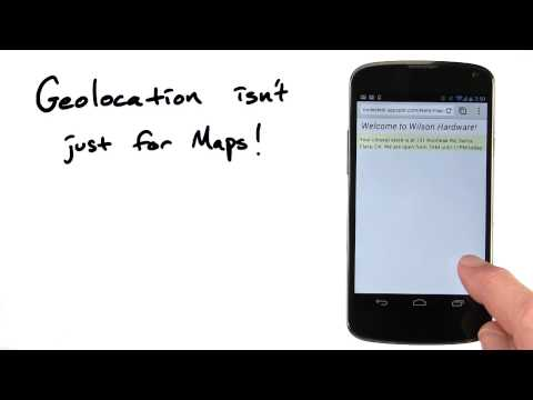 Not just for maps - Mobile Web Development thumbnail