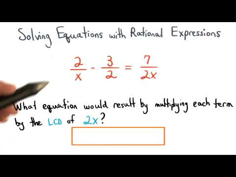 Solving Equations Using the LCD - Visualizing Algebra thumbnail
