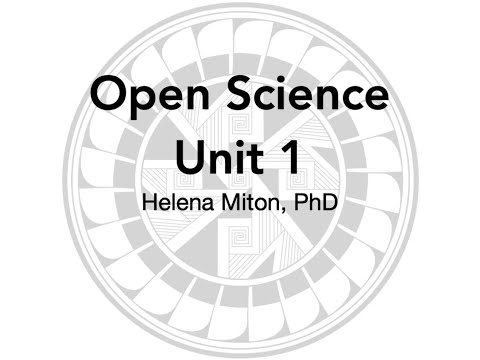 OST Unit 1 - Open Science, Definitions, and Contents thumbnail