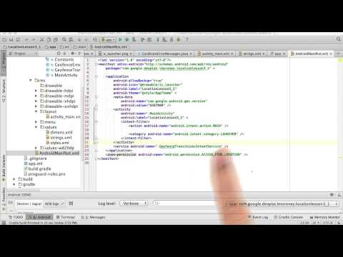 04-40 Set up AndroidManifest.xml - Solution thumbnail