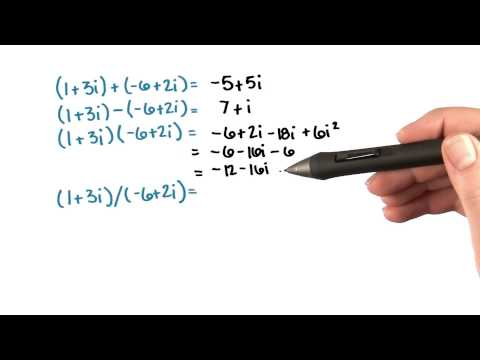 Complex Number Manipulation - College Algebra thumbnail