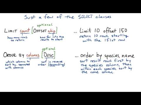 Select Clauses - Intro to Relational Databases thumbnail