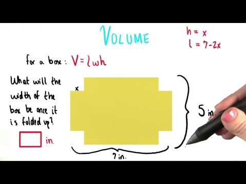 Width of the Box - College Algebra thumbnail