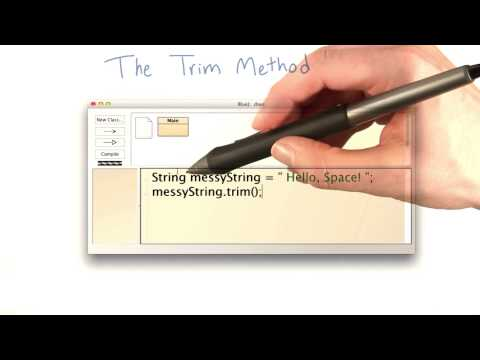 The trim Method - Intro to Java Programming thumbnail