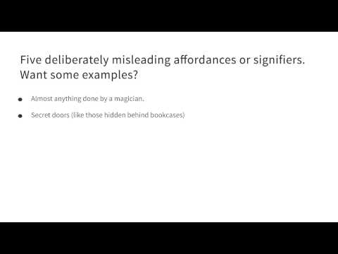 Five deliberately misleading affordances or signifiers - Intro to the Design of Everyday Things thumbnail