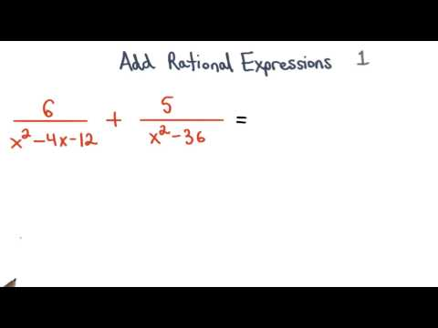 Add Rational Expressions Practice 1 - Visualizing Algebra thumbnail