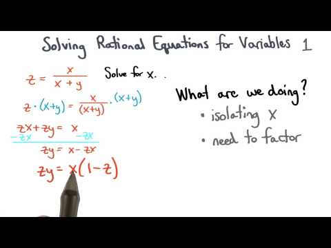 Solving Equations for Variables with Factoring thumbnail