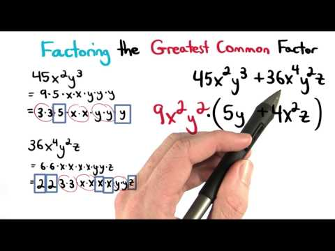 Factoring the GCF - Visualizing Algebra thumbnail