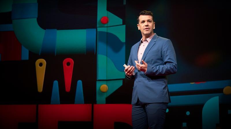 """Stumbling towards intimacy"": An improvised TED Talk thumbnail"